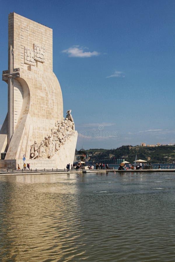 Памятник открытия в Лиссабоне стоковая фотография