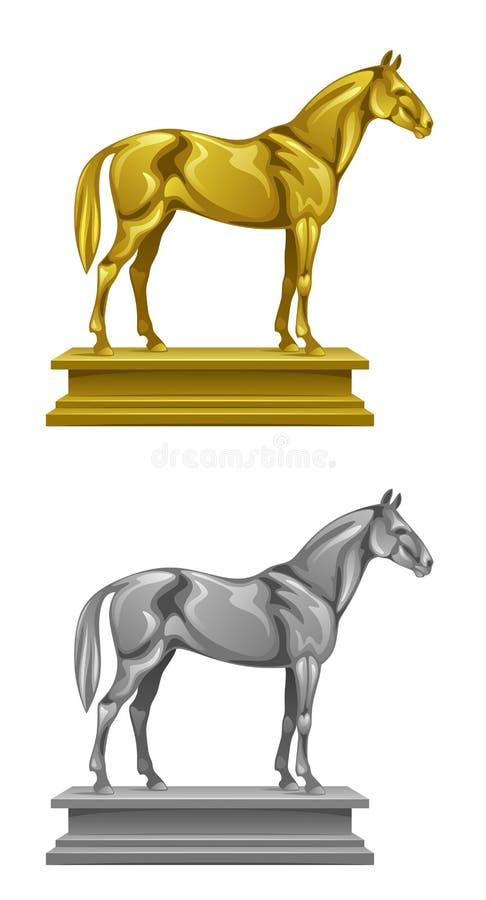 Памятник лошади иллюстрация вектора