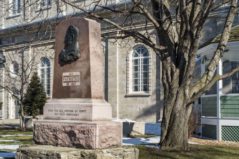 Памятник патриотов st-Eustache 1837 стоковая фотография