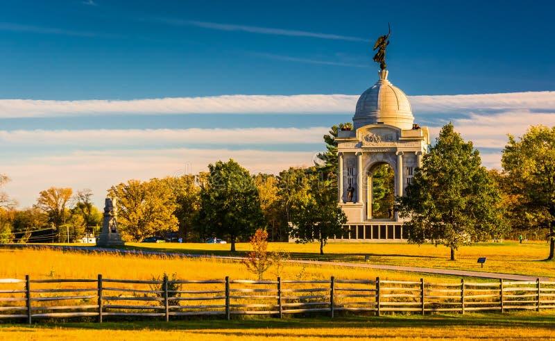 Памятник Пенсильвании, в Gettysburg, Пенсильвания стоковые изображения rf