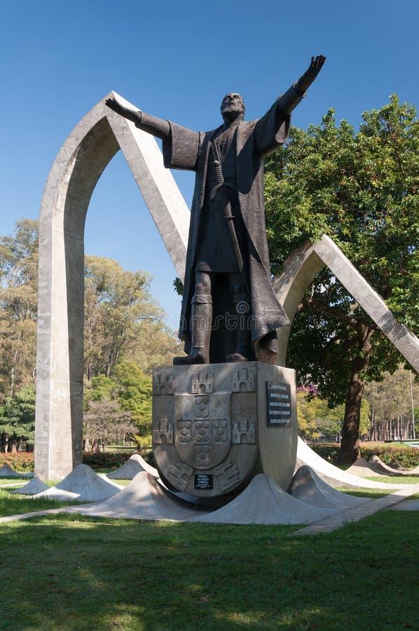 Памятник Педро Alvares Cabral в São Paulo Бразилии. стоковое фото rf
