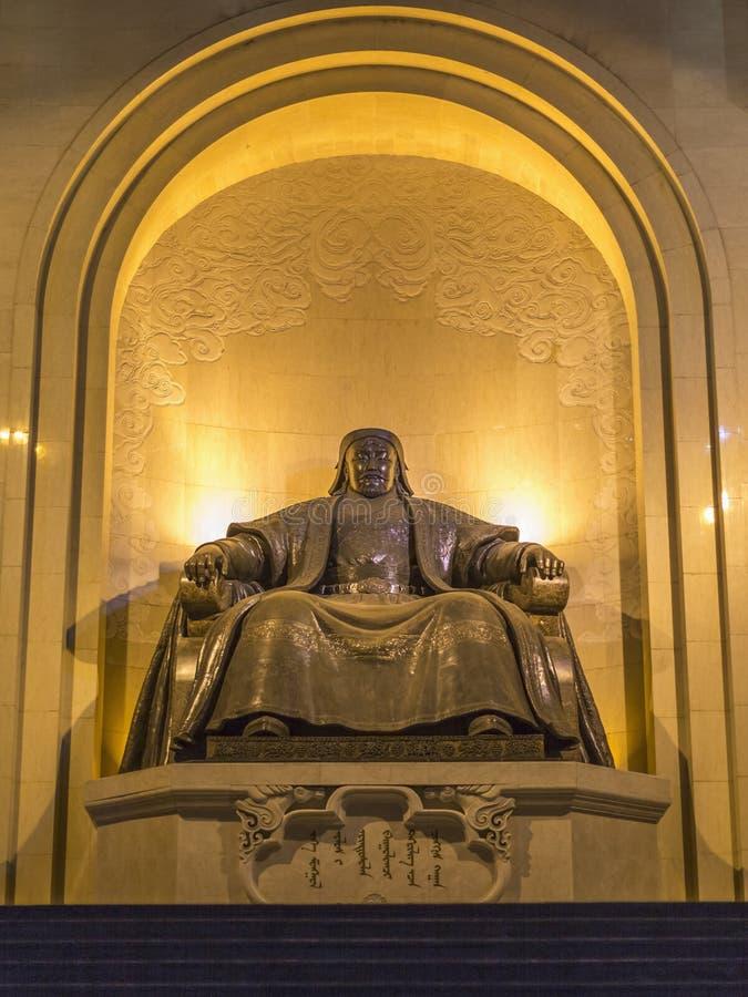 Памятник, показывая усаженное Genghis Khan стоковые изображения rf