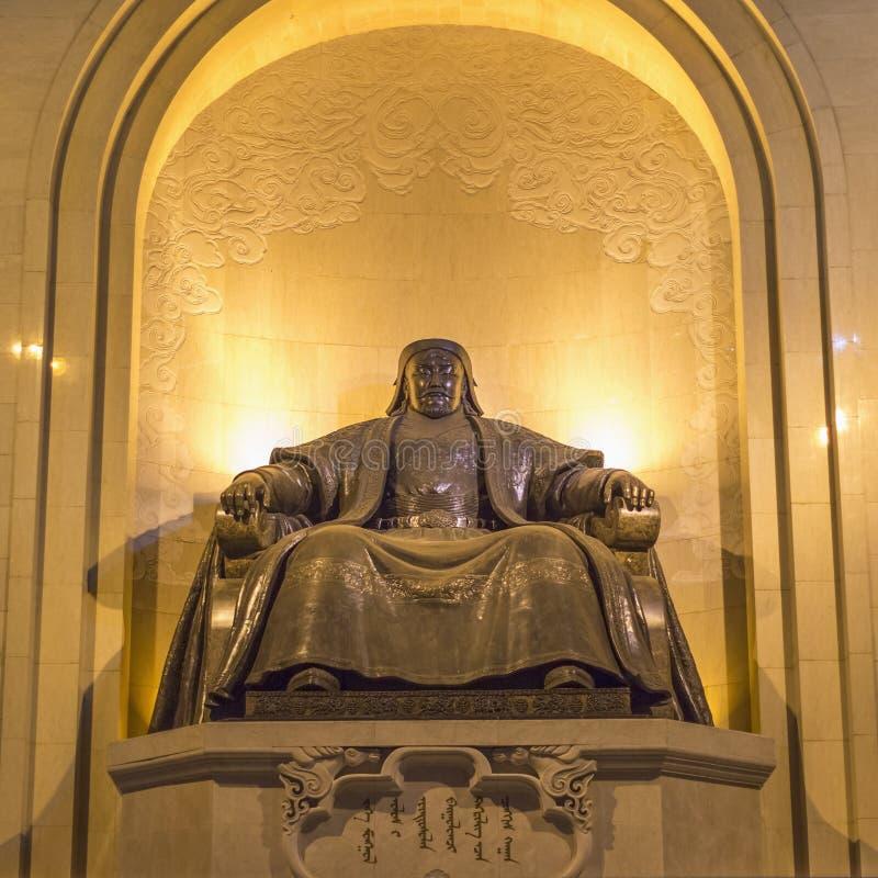 Памятник, показывая усаженное Genghis Khan стоковое фото