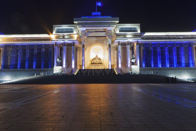 Памятник, показывая усаженное Genghis Khan стоковое фото rf