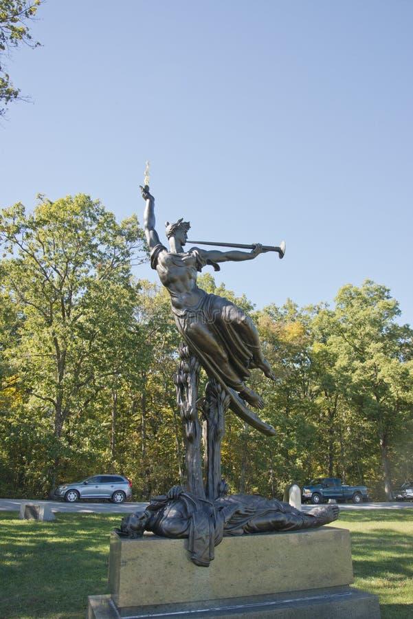 Памятник положения Луизианы на поле брани Gettysburg стоковое изображение rf