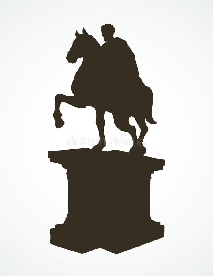 памятник предпосылка рисуя флористический вектор травы иллюстрация штока