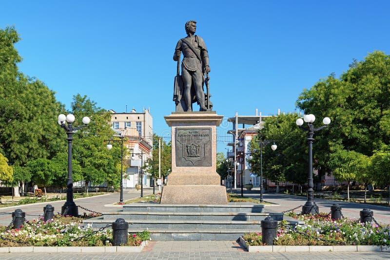 Памятник принца Grigory Potemkin-Tavricheski в Kherson стоковое фото rf
