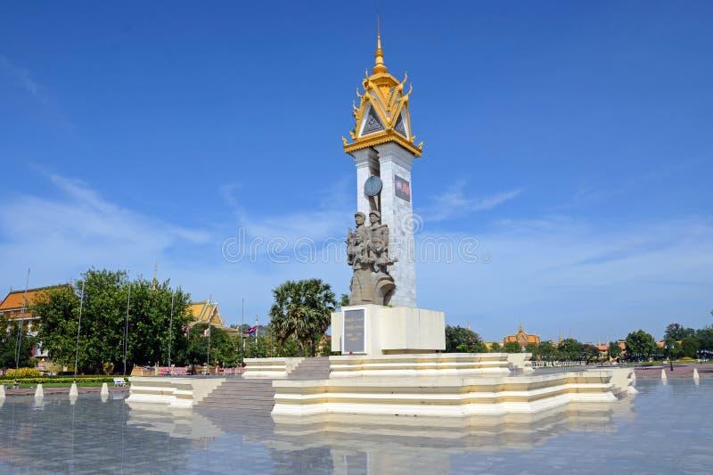 Памятник приятельства Камбоджа-Вьетнам стоковая фотография rf