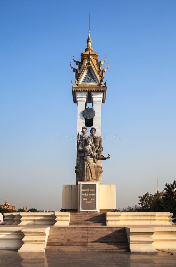 Памятник приятельства Камбоджи Вьетнама, Пномпень, Камбоджа. стоковые фотографии rf