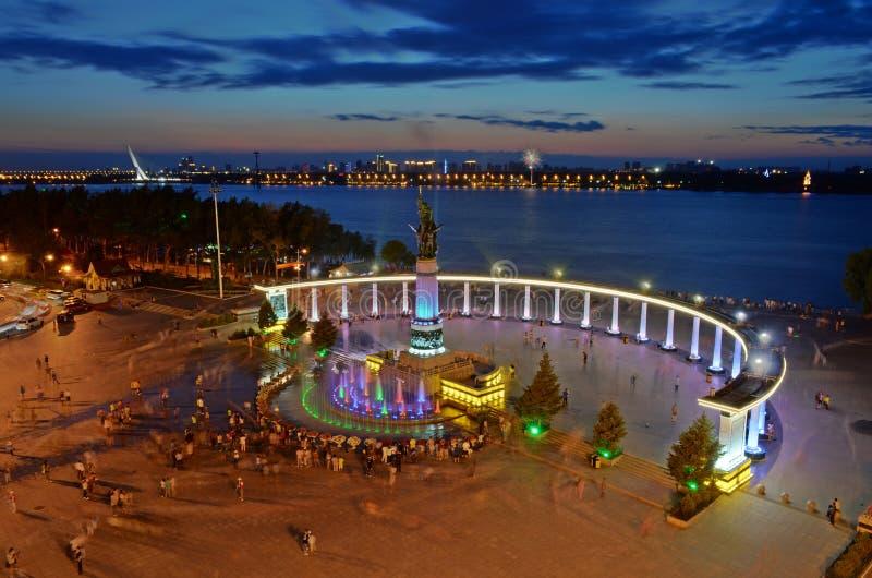 Памятник регулирования паводковых вод Харбин стоковая фотография rf