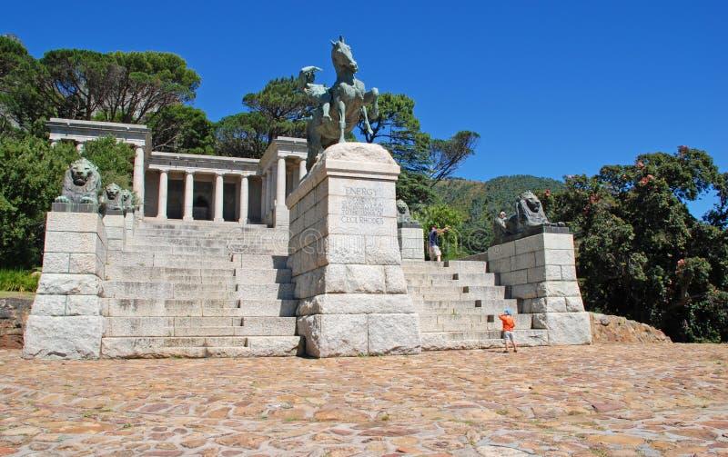 Памятник Родоса мемориальный в Кейптауне, Южной Африке стоковая фотография