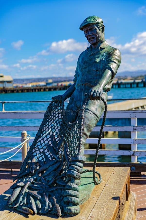 Памятник рыболова стоковое изображение