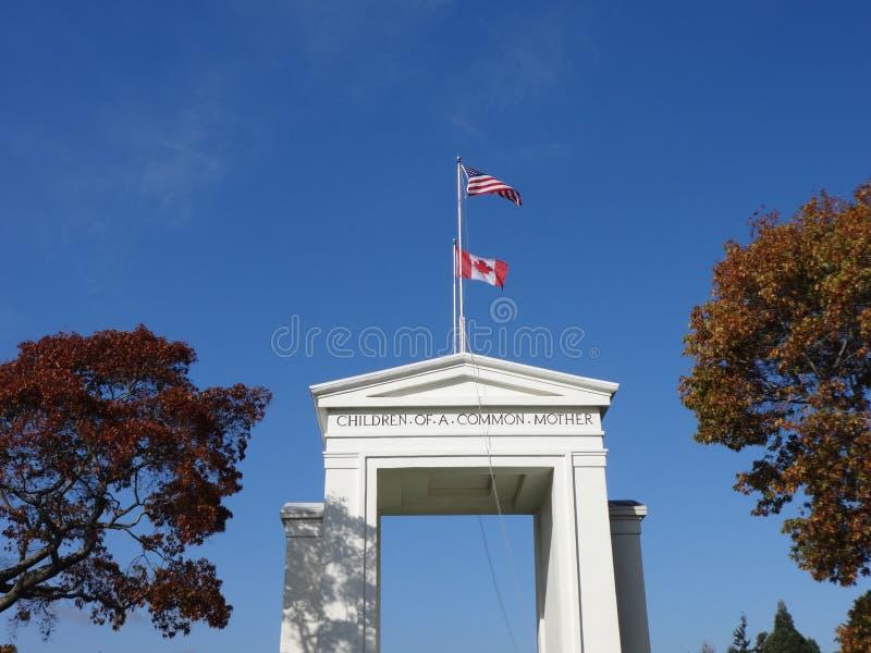 Памятник свода мира стоковые изображения rf