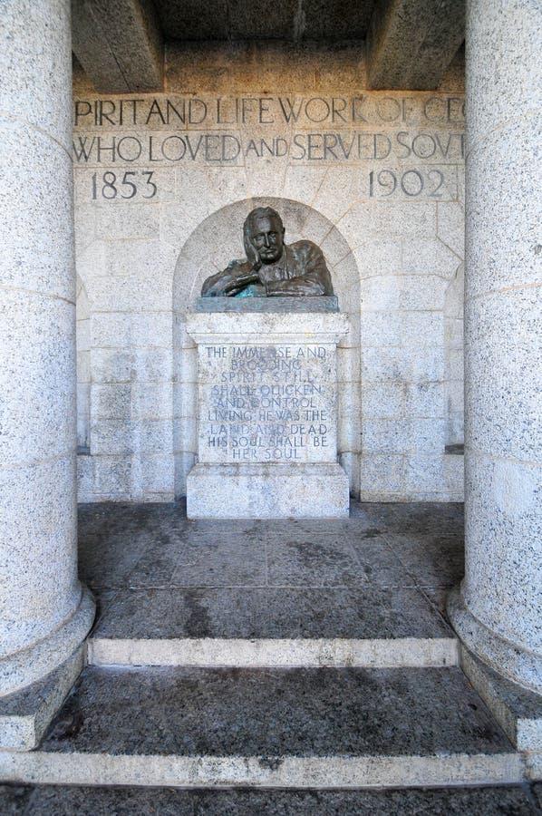 Памятник Сесиля Родоса - Кейптаун, Южная Африка стоковое фото rf