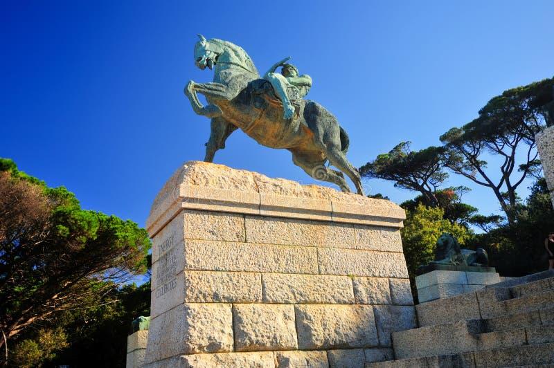 Памятник Сесиля Родоса - Кейптаун, Южная Африка стоковые фото