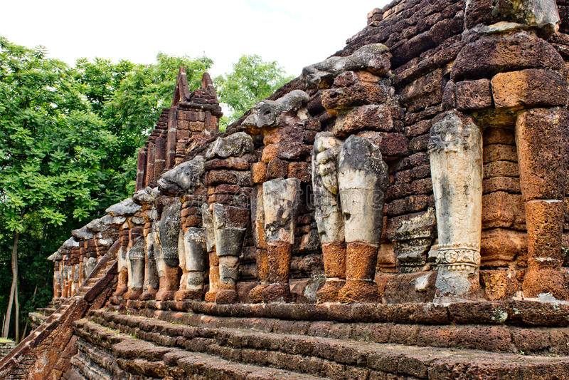 Памятник старины на Rop Wat Chang стоковые изображения rf
