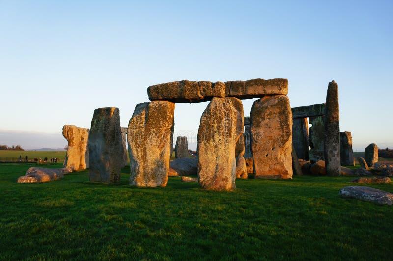 Памятник Стоунхендж загадочный в Англии стоковое фото