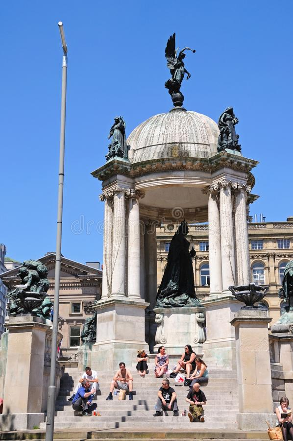 Памятник ферзя Виктории, Ливерпуль стоковые изображения