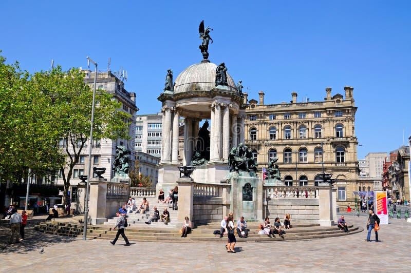 Памятник ферзя Виктории, Ливерпуль стоковая фотография