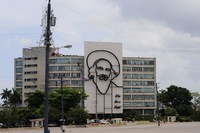 Памятник Фиделя Кастро в Площади de Ла Revolucion (квадрат революции) стоковые фото