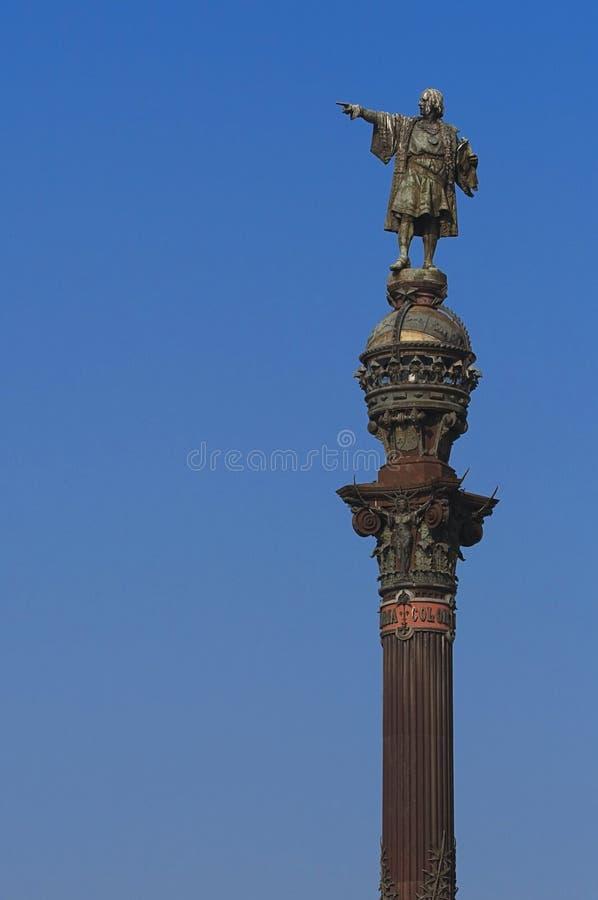 памятник Христофора columbus стоковые изображения rf