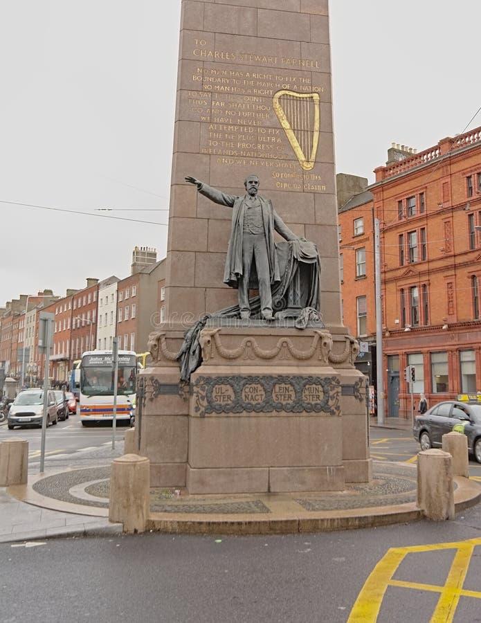 Памятник Чарльза Stewart Parnell, Дублин стоковые фото