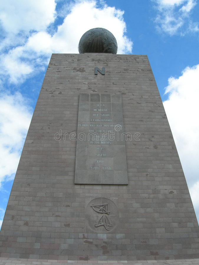 памятник экватора стоковое изображение