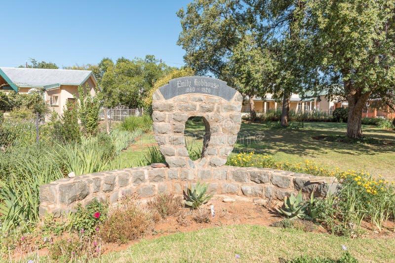 Памятник Эмили Hobhouse в Philippolis стоковая фотография rf