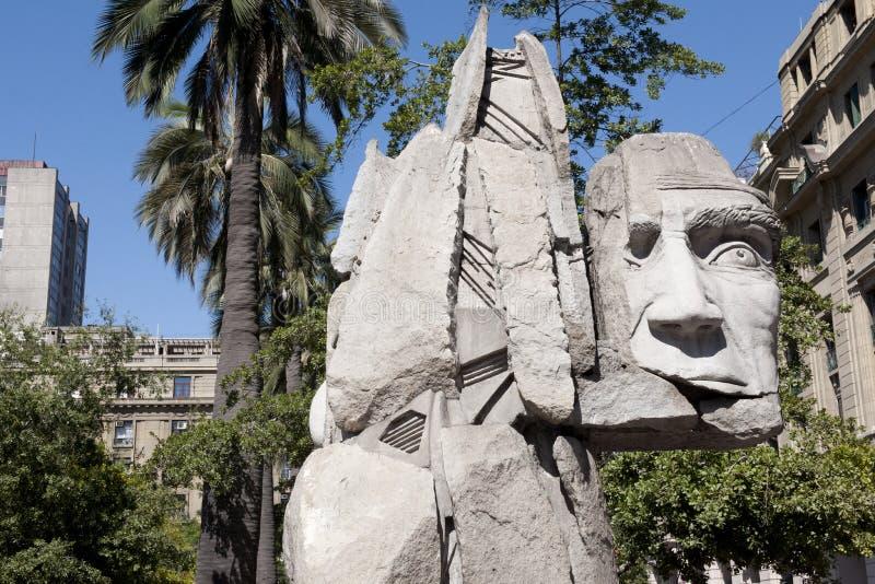 Памятник для индейцев Mapuche, Сантьяго стоковые изображения