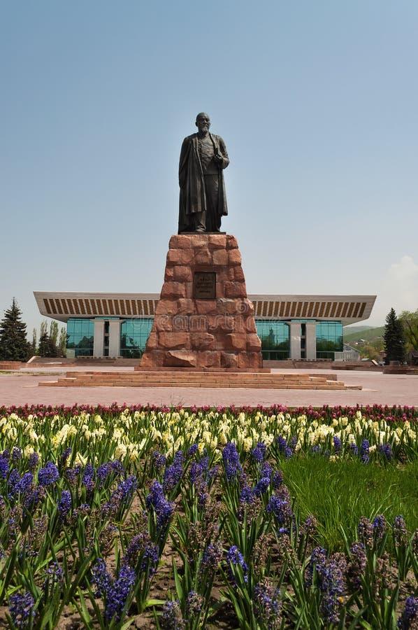 Памятник Abai Qunanbaiuli стоковые изображения rf