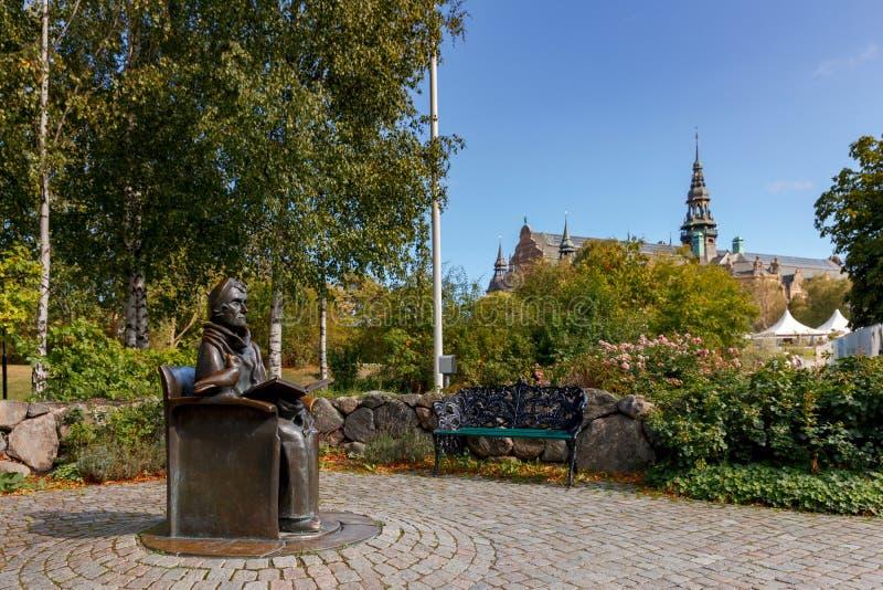 Стокгольм Памятник Astrid Lindgren стоковое изображение rf