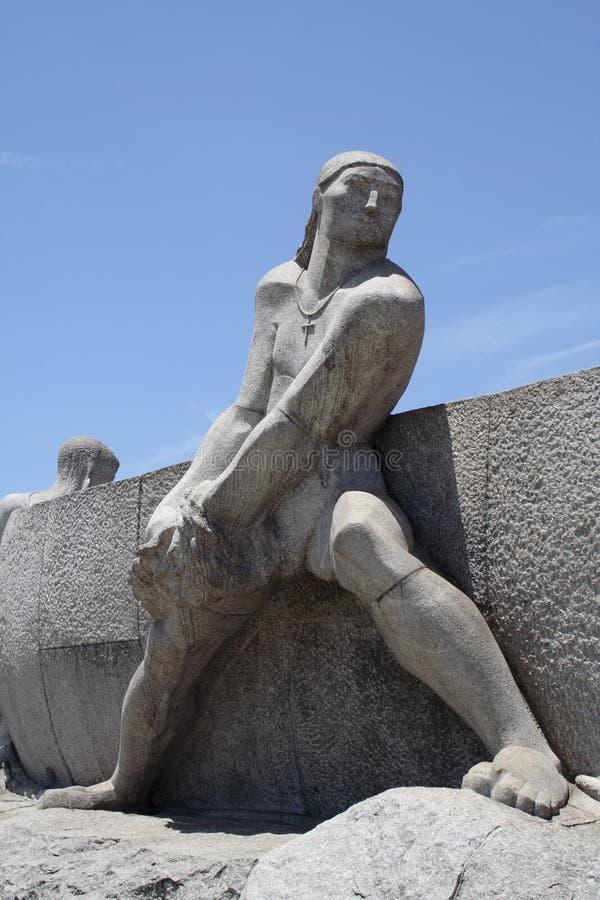 памятник bandeirantes стоковые изображения rf