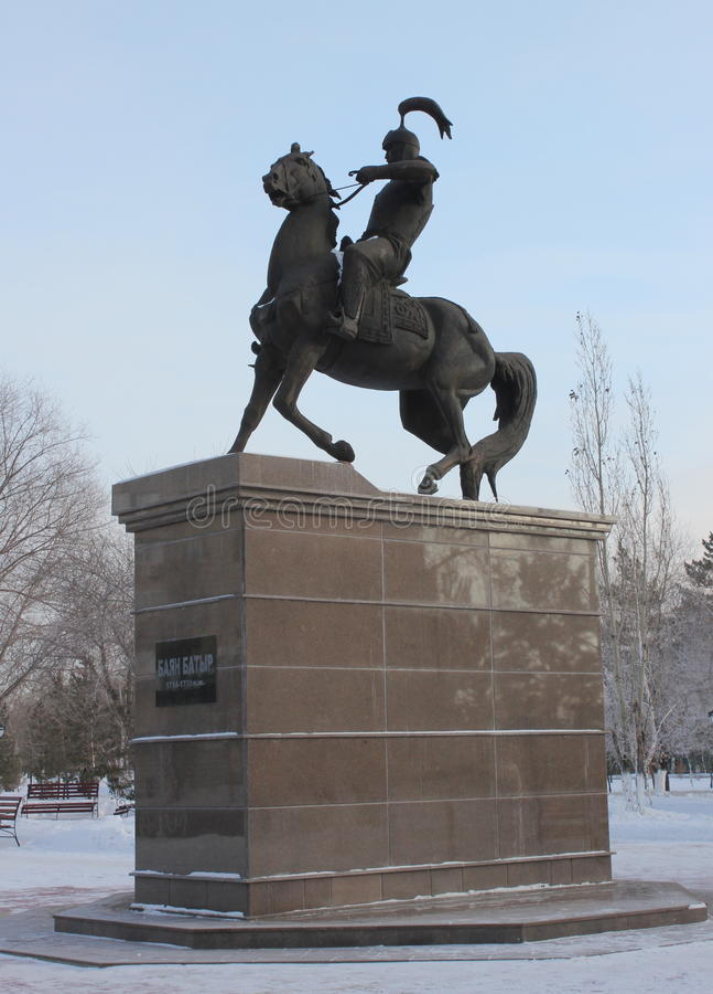 Памятник - Bayan Batyr (1714-1771) стоковое фото rf