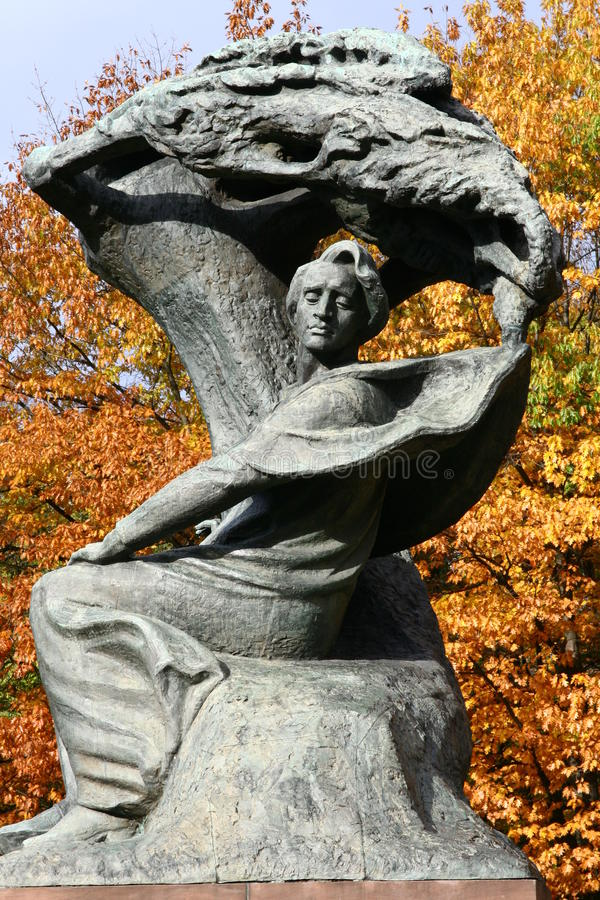 Памятник Chopin стоковые фотографии rf