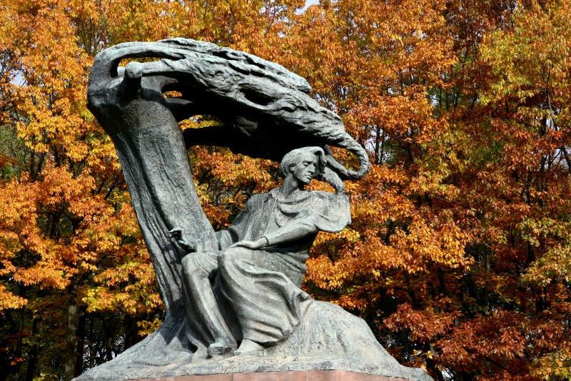 Памятник Chopin стоковое изображение rf