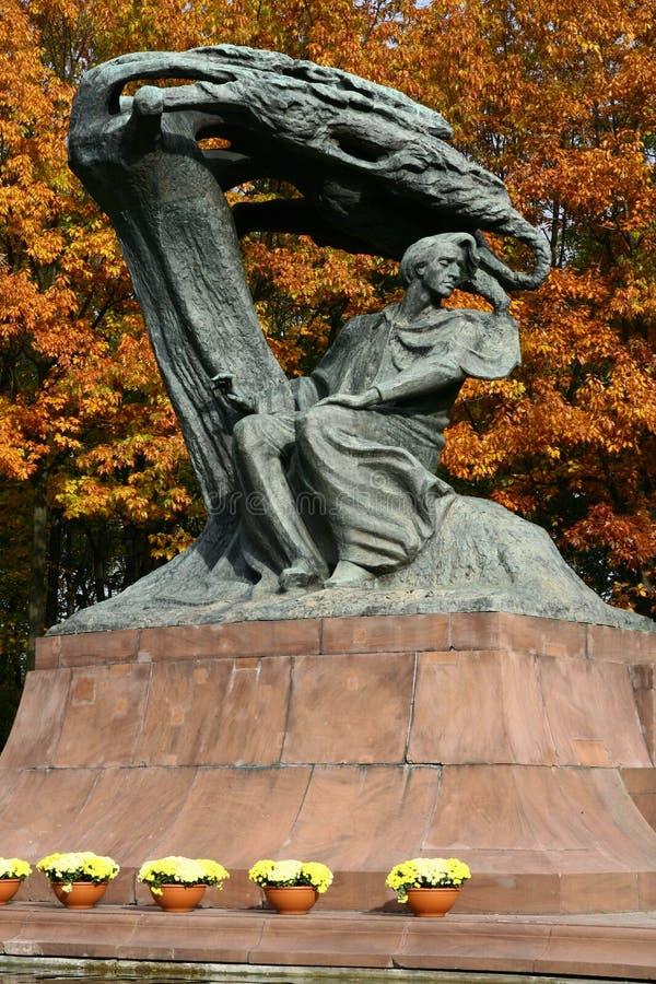 Памятник Chopin стоковые фото