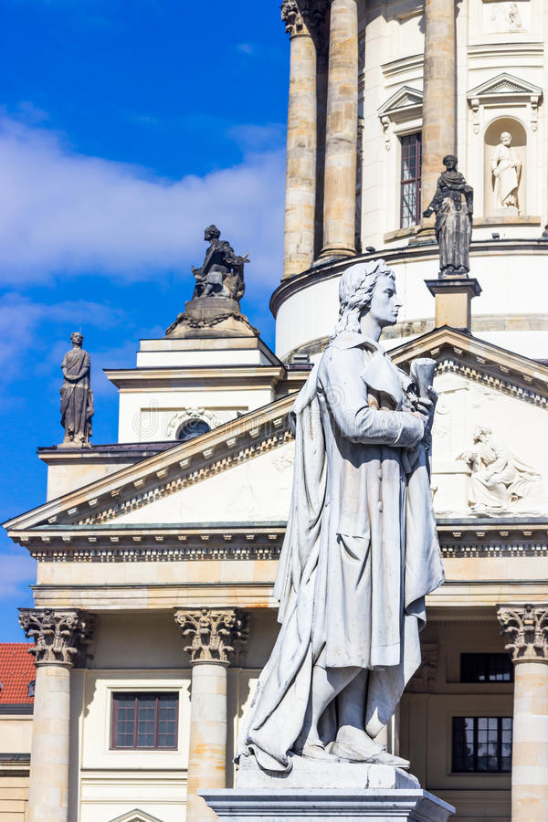 Памятник Friedrich Schiller berlin Германия стоковая фотография