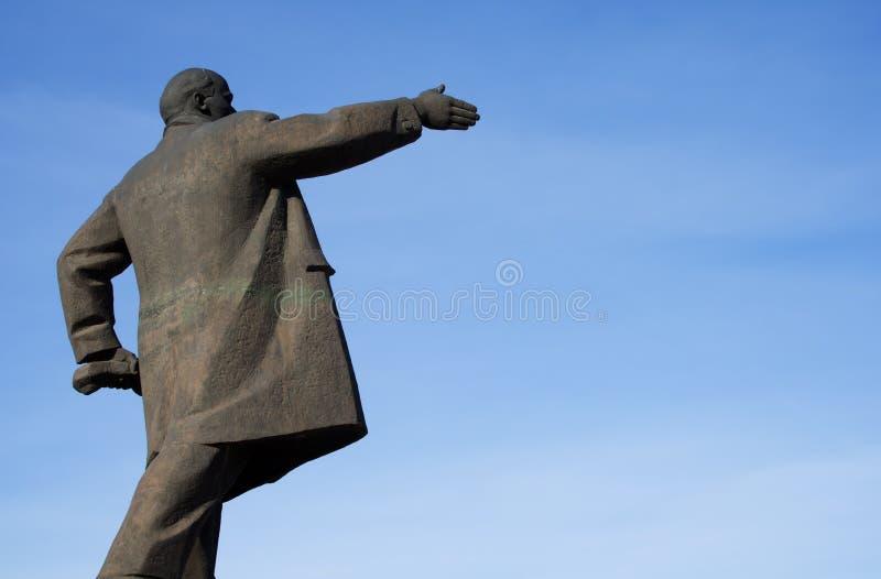 памятник lenin стоковое изображение rf