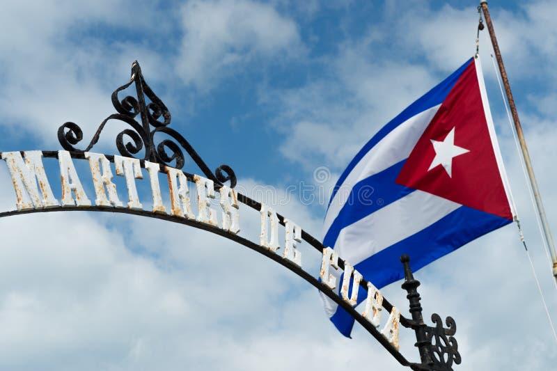Памятник Martires de Кубы стоковые изображения