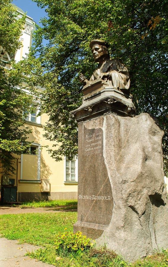 Памятник Mikael Agricola стоковое изображение