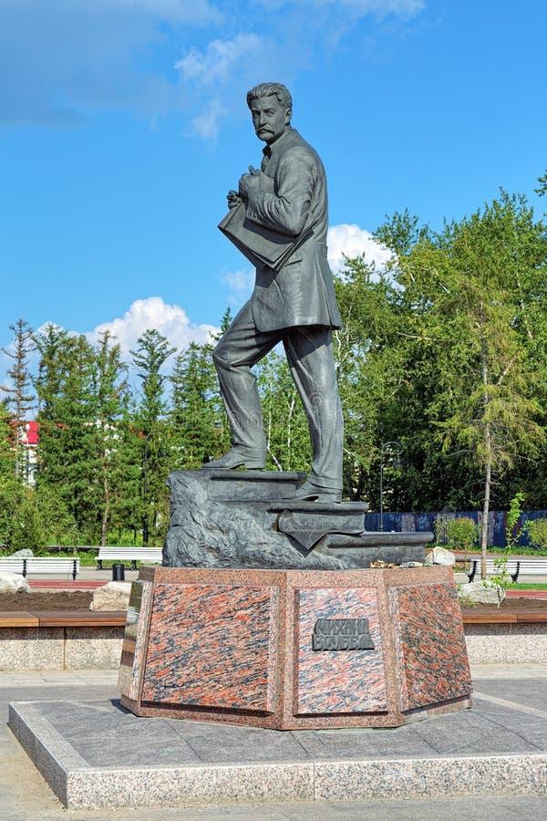 Памятник Mikhail Vrubel в Омске, России стоковые изображения