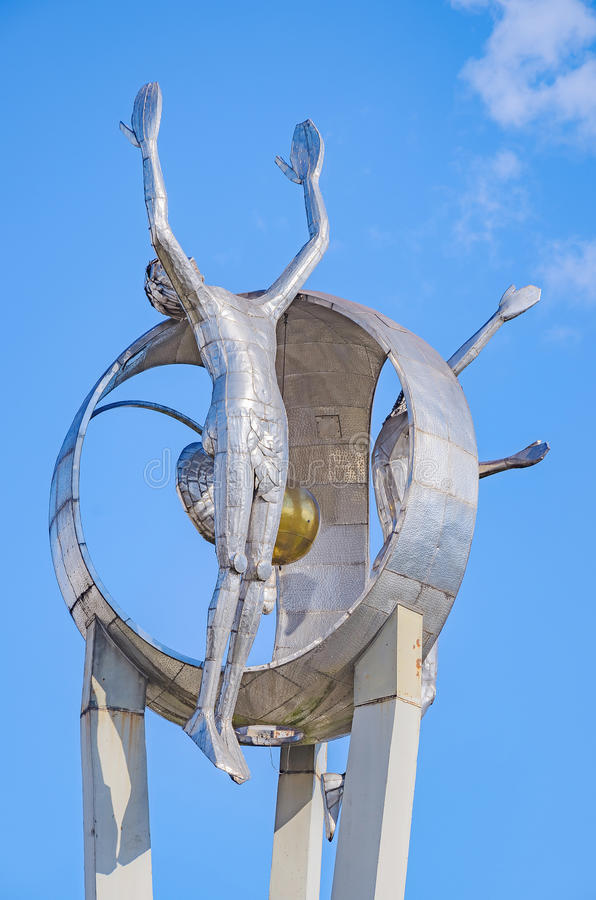Памятник o Passageiro в городе Londrina стоковое изображение rf