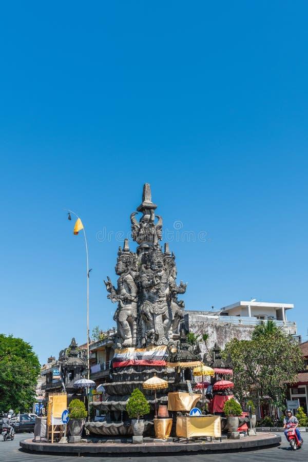 Памятник Patung Catur Muka, Klungkung Бали Индонезия стоковые изображения rf