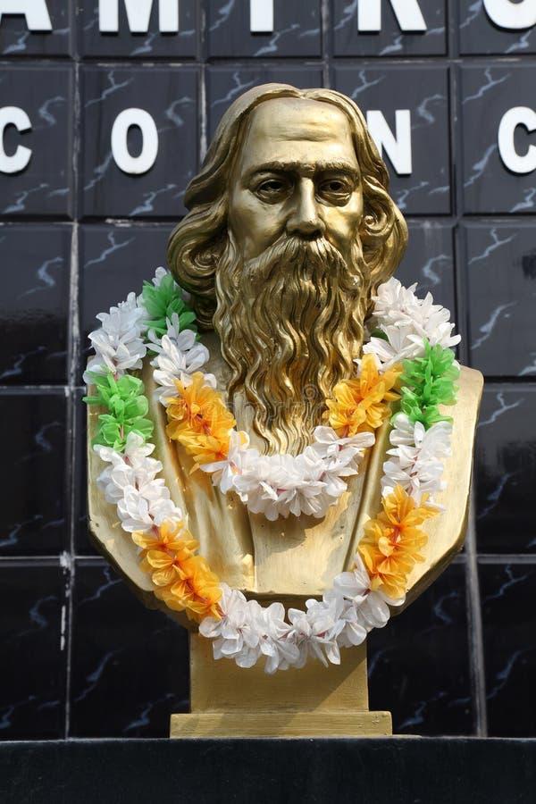 Памятник Rabindranath Tagore в Kolkata стоковое фото rf