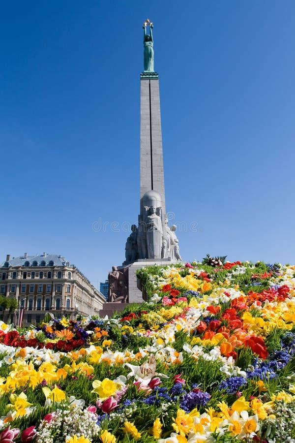 памятник riga latvia свободы стоковое изображение rf