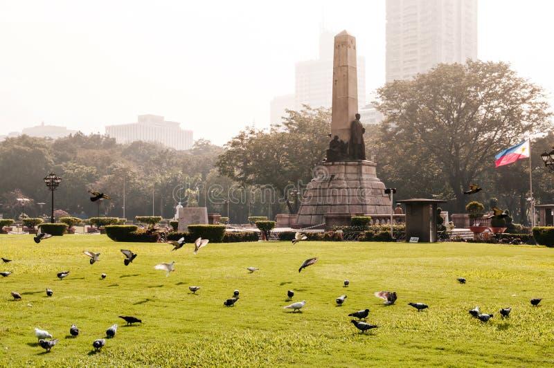 Памятник Rizal в парке Rizal в Маниле, Филиппинах стоковая фотография rf