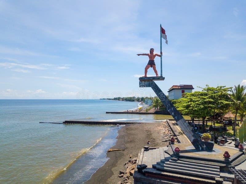 Памятник Tama мандалы Yudha в Singaraja, Бали, Индонезии стоковые изображения rf