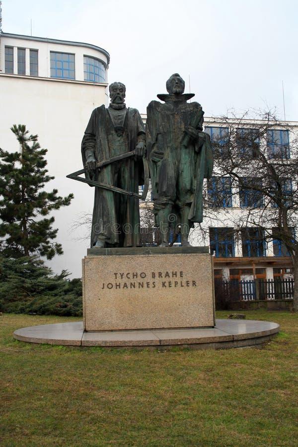 Памятник Tycho Brahe и Жоюаннес Кеплер в Праге, Rep чеха стоковые фото