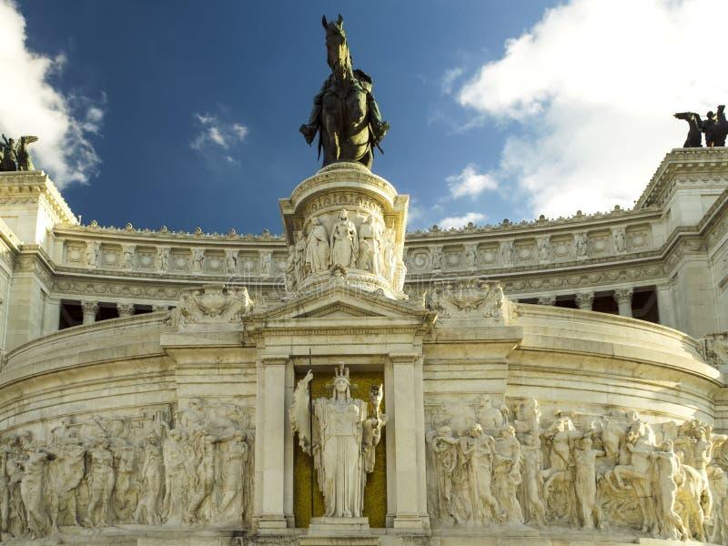 Памятник Venezia Рима Vittorio Emanuele аркады стоковые изображения rf