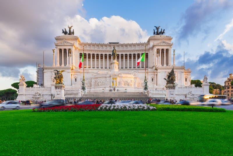 Памятник Vittorio Emanuele II, отечество алтара в Roma стоковые изображения